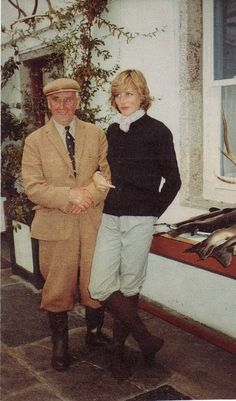 1981-08-20 Diana and the 5th Duke of Westminster at Balmoral while on the last part of her Honeymoon with Charles. His son would become one of Prince William's godfathers, and his grandson would become one of Prince George's godfathers. The Westministers are cousins by marriage to the Royal Family via the Queen Mother's brother John Herbert Bowes Lyon.