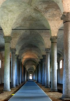 One of the three stables designed by Leonardo da Vinci for the Sforza Palace of Vigevano, Lombardy, Italy