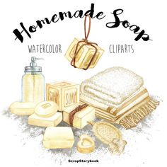 Homemade Soap Cliparts  digital printable by Scrapstorybook