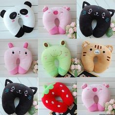 Stall selling wholesale panda plush toys u-shaped neck pillow U-shaped pillow lu. Stall selling wholesale panda plush toys u-shaped neck pillow U-shaped pillow lunch break pillow nap car neck - Alternat. Cute Pillows, Small Pillows, Baby Pillows, Bolster Pillow, Pillow Set, Sewing For Kids, Baby Sewing, Sewing Crafts, Sewing Projects