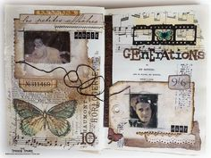 Bumblebees and Butterflies: Weekly Visual Journey Здесь хорошая идея transfer the images с использованием струйного принтера.