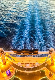 Light up the sea on a Royal Caribbean Oasis Class ship, which features onboard activities such as the FlowRider, AquaTheater, zip line, and more.