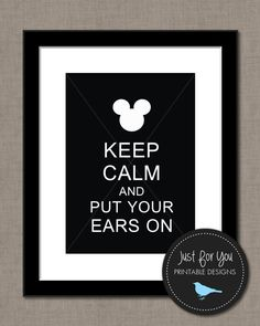 Disney Mickey Mouse Minnie Mouse Wall Art by 4UPrintableDesigns, $4.00