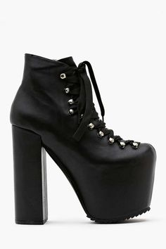 Nasty Gal UNIF Hellbound Platform Boot $245.00 I would wear these with the rainbow laces all the time, and they look SO badass... I love it.