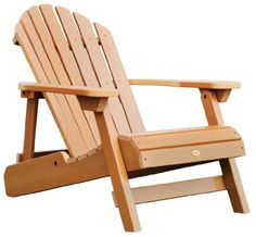 Highwood Hamilton Folding and Reclining Adirondack Chair, Adult Size, Toffee