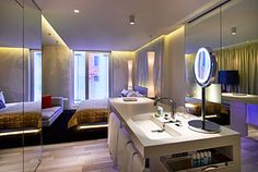 i love w hotels (but i wish they'd stop putting the bathroom in the bedroom in so many properties)