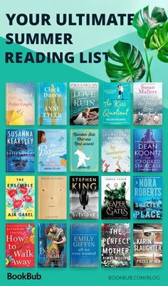 This is your ultimate summer reading list! These books are light, fun, and are perfect for the beach. #beachreads #bookrecs #summereading