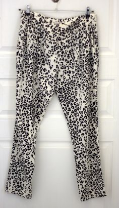 MANGO animal print pants. Black & White. Size EUR XL/US L. In excellent condition, only worn once. Price - 400 CZK.