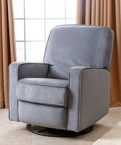 Loving this Gray Bella Swivel Glider Recliner Chair on #zulily! #zulilyfinds