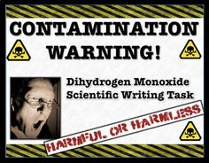 "Someone has posted ""Contamination Warning"" signs throughout your school. As the school community panics with fear; your group of young scientists is on the case presenting facts and evidence to debunk a potentially harmful threat. Throughout this writing task, students will be presented with evidence and worksheets that help scaffold a solid student response."