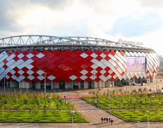 Located in Tushino, Otkritie Arena is counted amongst the multi-purpose stadiums of Moscow that predominantly hosts football matches and is the home of FC Spart. Fc Spartak Moscow, World Cup Match, Football Stadiums, Football Match, Fifa World Cup, Architecture Design, Soccer, History, Building