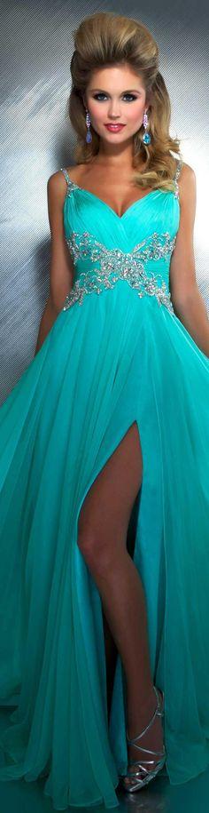 Mac Duggal couture dress mint #long #formal #dress MAC DUGGAL PROM  STYLE 64406M