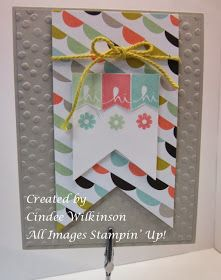 Just Sponge It: Perfect Pennants Stamp Club Card