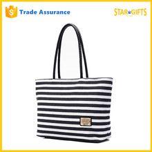 2016 Simple Style Women Ladies Summer Beach Handbags Striped Tote Bag