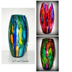 """I am pleased to be able to offer this style vase in any color!  10""""tall 16"""" around  4"""" wide"""