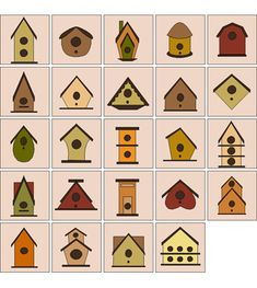 Birdhouses, I used to make these to supplement my income:) made a killing! #birdhousedesigns