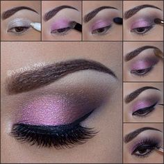 Beautiful eye make up.especially for brown eyes,i Beautiful eye make up.especially for brown eyes,i think. Beautiful eye make up.especially for brown eyes,i think. Eye Makeup Diy, Smokey Eye Makeup Look, Purple Eye Makeup, Makeup Tips, Makeup Ideas, Purple Lipstick, Purple Eyeshadow, Makeup Hacks, Makeup Art