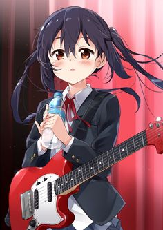 Anime picture k-on! kyoto animation nakano azusa mousou (mousou temporary) long hair single tall image blush looking at viewer highres open mouth fringe black hair twintails brown eyes hair between eyes standing holding payot indoors 606757 en Azusa Nakano, Manga Anime, Anime Art, Anime Music, Manga Art, Sailor Outfits, Kyoto Animation, Cool Anime Girl, Anime Girls