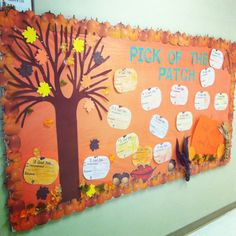 """Pick of the Patch- """"Fall"""" into a Good Book Bulletin Board!  Students can write on pumpkins that say: A Good Book (underlined) & then have them fill in *I recommend... & *because.. -A.Anicola <3"""