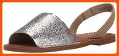Nine West Women's Izzio Metallic Dress Sandal, Silver/Dark Taupe, 7.5 M US - All about women (*Amazon Partner-Link)