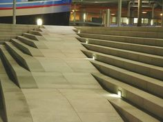 Modern Landscape Design, Modern Landscaping, Landscape Stairs, Landscape Architecture, Ramp Stairs, Ramp Design, Case Study, Basin, Exterior Design