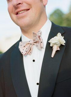 Polka Dot Bow Tie #groom #wedding #pink
