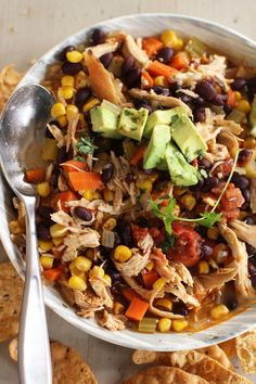 Quick And Spicy Rotisserie Chicken And Black Bean Stew