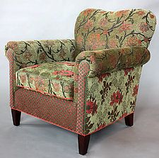 "Molly Rose Chair in Aloe by Mary Lynn O'Shea (Upholstered Chair) (35"" x 33"")"