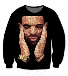 4 Styles Real USA Size Drake - Ovo - Drizzy - 6 God 3D Sublimation Print custom made Hoody/Hoodie plus size#drake ovo sweatshirt