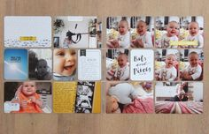 Pages created by Julia Reichert, featuring the Everyday Edition Core Kit, Tan Alpha Stickers, and Project Life Date Stamp.