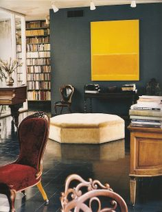 Houston home of John and Dominique de Menil, designed by Philip Johnson and decorated by Charles James