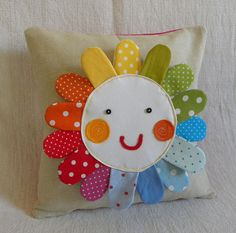 ... could be your shiny colorful reason to smile and just feel happy. :)        This one of a kind pillow cover is sewn out of linen, cotton and
