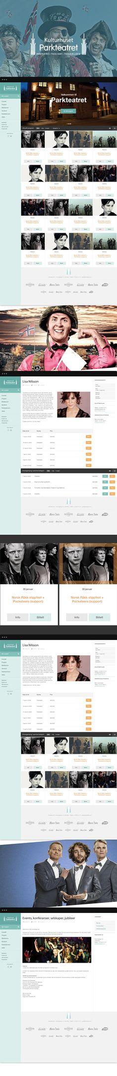 Parkteatret - website on Behance