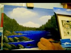 ▶ Acrylic painting lesson 7, how to paint water lines and make your water more realistic.. - YouTube
