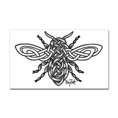 Celtic Knotwork Bee - black li Decal on CafePress.com