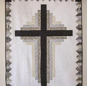 Log Cabin Cross Quilt - via @Craftsy