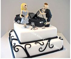 Car Wedding Cake for Men | Mechanic Novelty Cake, Engagement Cakes by EliteCakeDesigns Sydney