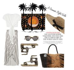 """A Summer Nights Walk"" by onesweetthing ❤ liked on Polyvore featuring Sensi Studio, River Island, Flynn Skye, Kate Spade, Inverni, Dot & Bo and Illesteva"