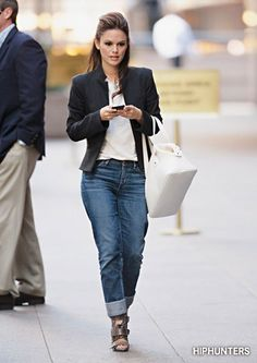 Rachel Bilson's look is a nice one for both a working day and then going out with friends for a drink.
