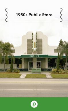 Circa 1950. Publix Super Markets store #7 in St. Petersburg, Florida, opened on June 15, 1950. The store's decorative glass block and green marble added a wow factor to the already-modern grocery store.