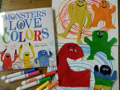 Monsters Love Colors by Mike Austin. Flannel board activity.
