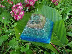 Turquoise Orgone Pyramid Talisman - EMF Protection - Energy Healing - Spiritual Gift