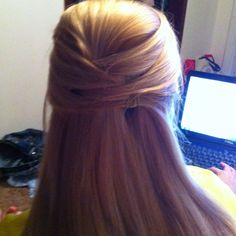 My hair done with an easy up-do <3