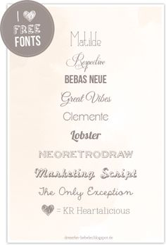 I ♥ Free Fonts! Part 2  ~~  {10 free fonts w/ easy download links}