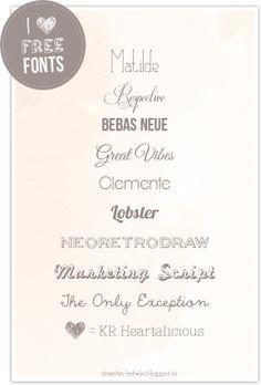 dreierlei liebelei – blog für schönes: I love Free Fonts!