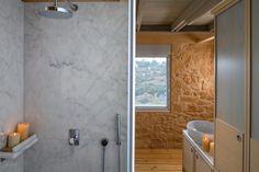 Ensuite marble shower http://www.oleavillas.com