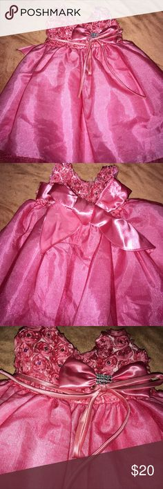 Infant party dress! A beautiful pink sparkly dress, just perfect for those holidays around the corner. Used once for a photo shoot: in perfect condition. Dresses Formal