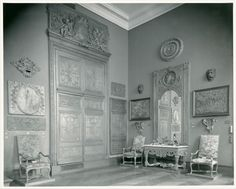 The Metropolitan Museum of Art, Wing F, 1st Floor, Room 9; The Hoentschel Collection: Period of Louis XIV; View of northwest wall. Photographed on July 20, 1921.