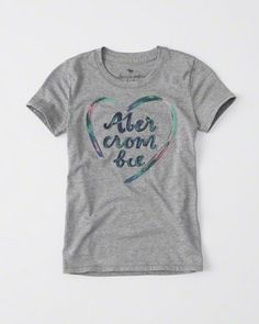 meninas camisetas gráficas   Abercrombie kids