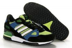 Adidas ZX 750 Trainer Anthracit Verde neon blu Bianco Uomo prezzo basso
